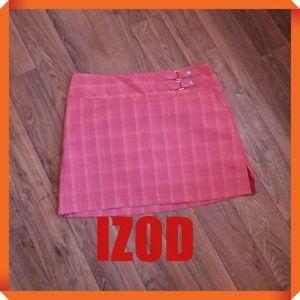 Orange Izod Skort Cool FX Stretch